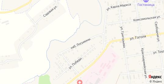 Улица Набережная Лосьмины в Сычевке с номерами домов на карте. Спутник и схема онлайн