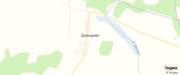 Карта деревни Давыдово в Калужской области с улицами и номерами домов