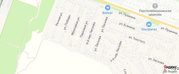 Лескова 6-й переулок на карте поселка Кузьмино с номерами домов