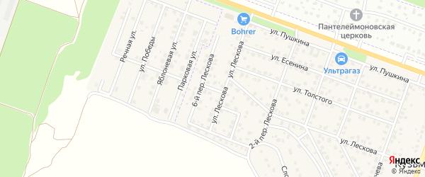Лескова 5-й переулок на карте поселка Кузьмино с номерами домов