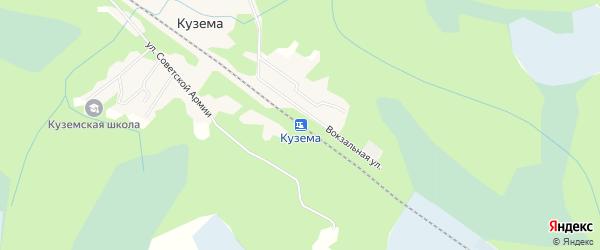Карта станции Куземы в Карелии с улицами и номерами домов