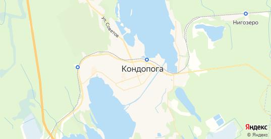 Карта Кондопоги с улицами и домами подробная. Показать со спутника номера домов онлайн