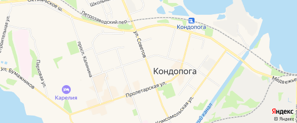 Карта разъезда Нигозера города Кондопоги в Карелии с улицами и номерами домов