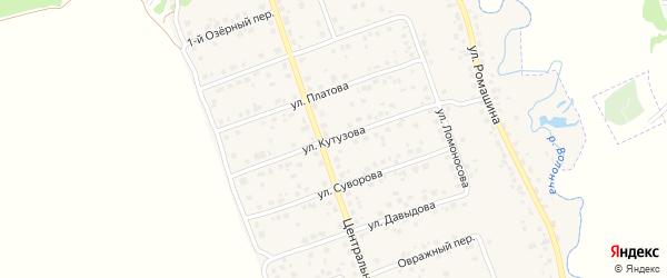 Улица Кутузова на карте деревни Антоновки Брянской области с номерами домов