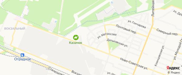 Территория СО им Менделеева на карте Брянска с номерами домов