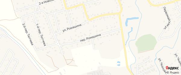 Переулок Ромашина на карте деревни Антоновки с номерами домов