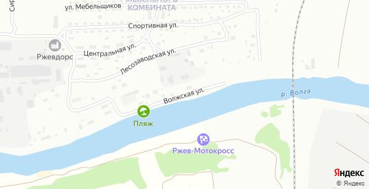 Волжская улица в Ржеве с номерами домов на карте. Спутник и схема онлайн