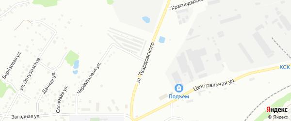Улица Александра Твардовского на карте Ржева с номерами домов