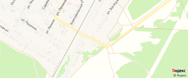 Улица Лермонтова на карте поселка Кокоревки с номерами домов