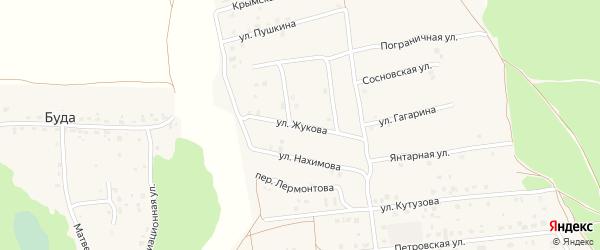 Улица Жукова на карте деревни Дубровки Брянской области с номерами домов