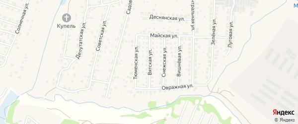 Вятская улица на карте поселка Путевки с номерами домов