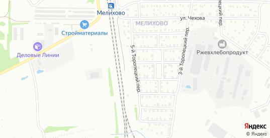 Торопецкий 5-й переулок в Ржеве с номерами домов на карте. Спутник и схема онлайн