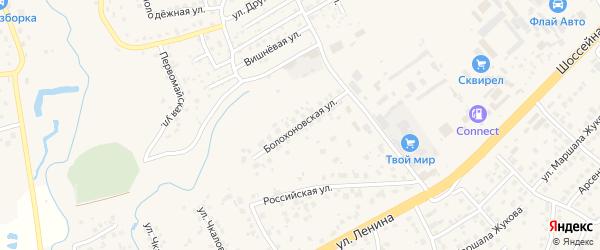 Болохоновская улица на карте села Супонево Брянской области с номерами домов