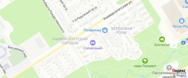 Лунный проулок на карте района Древлянки с номерами домов