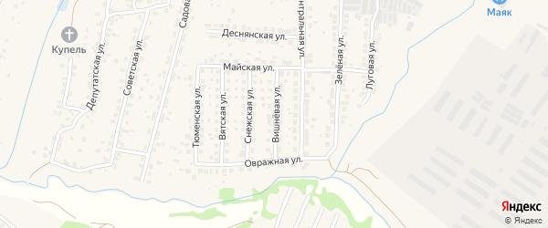 Вишневая улица на карте поселка Путевки Брянской области с номерами домов