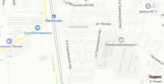Мелиховский 3-й переулок в Ржеве с номерами домов на карте. Спутник и схема онлайн