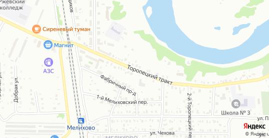 Торопецкий тракт в Ржеве с номерами домов на карте. Спутник и схема онлайн