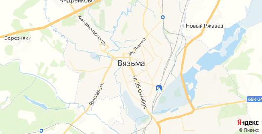 Карта Вязьмы с улицами и домами подробная. Показать со спутника номера домов онлайн