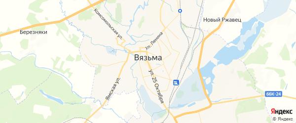 Карта Вязьмы с районами, улицами и номерами домов