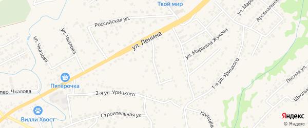 4-й Ленинский переулок на карте села Супонево Брянской области с номерами домов
