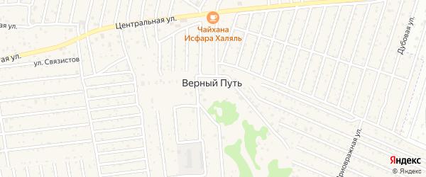 Урожайная улица на карте поселка Верного Пути с номерами домов
