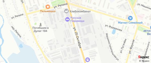 Улица 25 Октября на карте Вязьмы с номерами домов