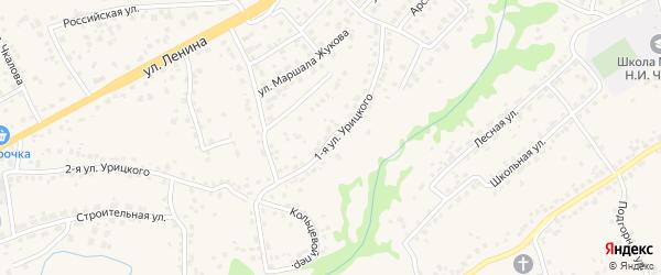Улица 1-я Урицкого на карте села Супонево Брянской области с номерами домов