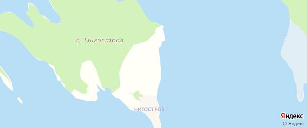 Карта садового некоммерческого товарищества Восточного СОТА города Кондопоги в Карелии с улицами и номерами домов