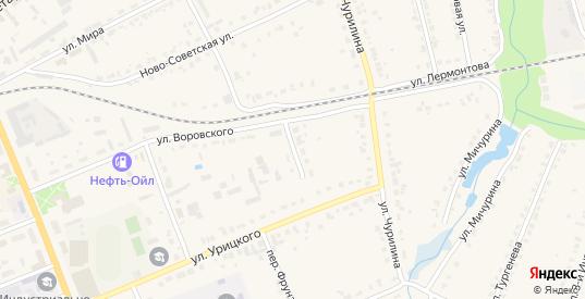 Переулок Урицкого в Кирове с номерами домов на карте. Спутник и схема онлайн