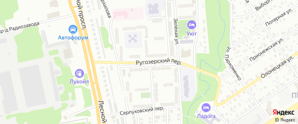 Улица Плеханова на карте района Перевалки с номерами домов