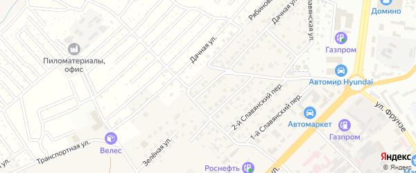 4-й Славянский переулок на карте села Супонево с номерами домов
