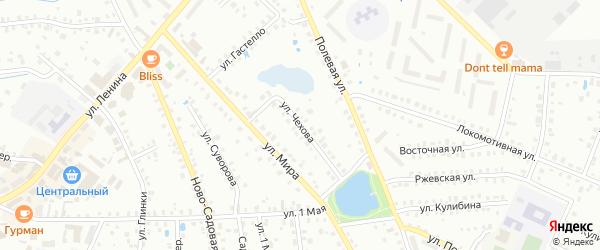 Улица Чехова на карте Вязьмы с номерами домов