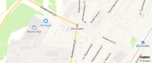 Киевская улица на карте Дятьково с номерами домов