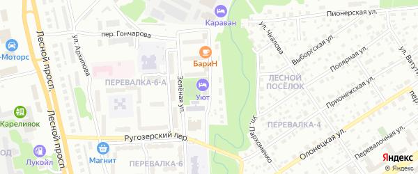 Улица Крылова на карте района Перевалки с номерами домов