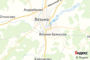 Карта г. Вязьма Смоленская область