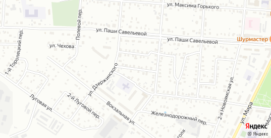 Дзержинский 2-й переулок в Ржеве с номерами домов на карте. Спутник и схема онлайн