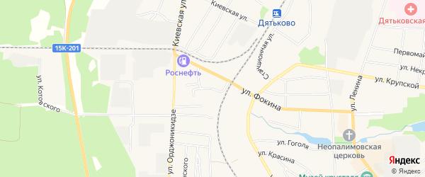 Карта территории сдт Орловские дворики в Брянской области с улицами и номерами домов