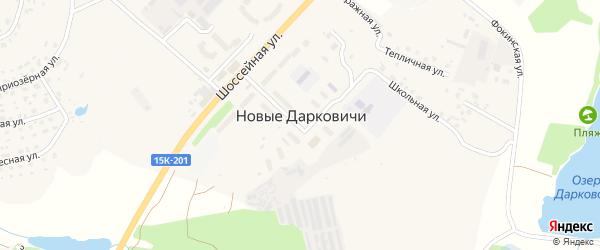 Улица Дятьковское шоссе на карте поселка Новые Дарковичи Брянской области с номерами домов