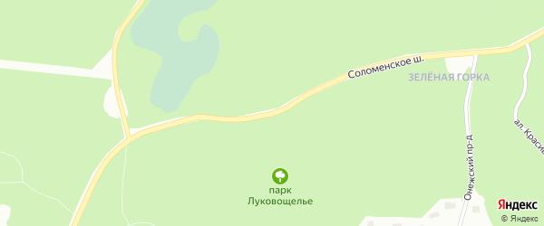 Соломенское шоссе на карте района Соломенного с номерами домов