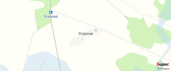 Карта деревни Усадище в Смоленской области с улицами и номерами домов