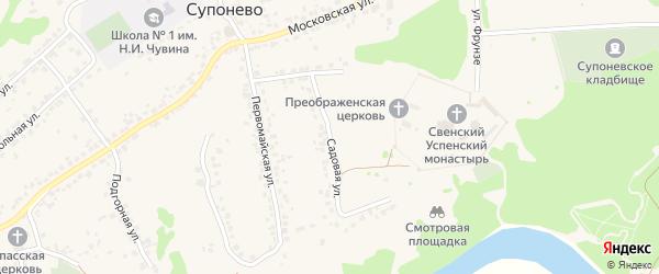 Садовая улица на карте села Супонево с номерами домов