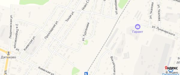 Ново-Станционный переулок на карте Дятьково с номерами домов