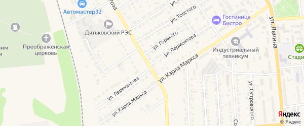 Улица Лермонтова на карте Дятьково с номерами домов