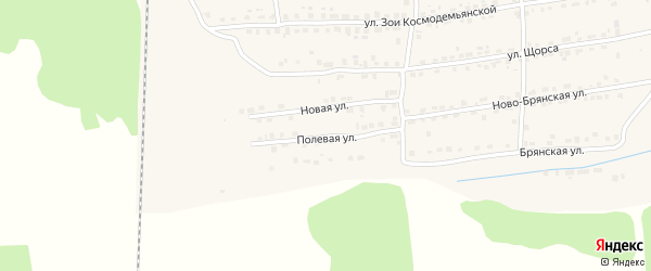 Полевая улица на карте Дятьково с номерами домов