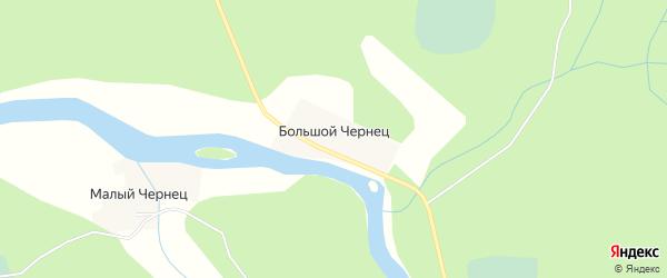 Карта деревни Большого Чернеца в Новгородской области с улицами и номерами домов