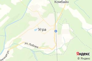 Карта пос. Угра