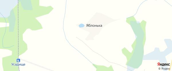 Карта деревни Яблоньки (Капустинское с/пос) в Смоленской области с улицами и номерами домов