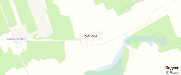 Карта деревни Котово в Смоленской области с улицами и номерами домов