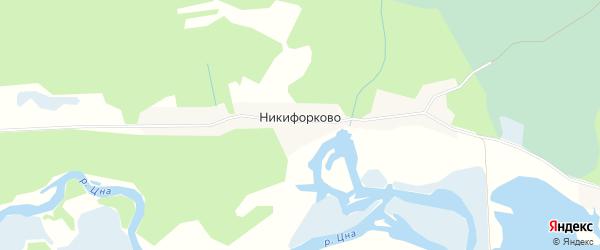 Карта деревни Никифорково в Тверской области с улицами и номерами домов