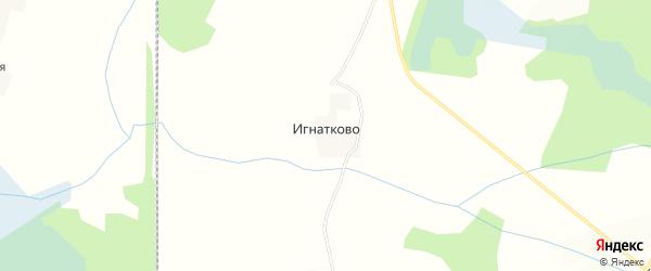 Карта деревни Игнатково в Смоленской области с улицами и номерами домов